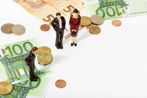Financiar la inversión o el concepto de ahorro espacio de copia foto