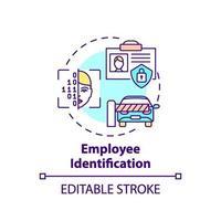 Employee identification concept icon vector