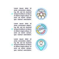 Demographic data concept line icons with text vector