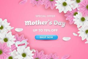 diseño de fondo feliz día de la madre con elementos realistas encantadores. ilustración vectorial eps10. vector