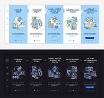 Assets types onboarding vector template