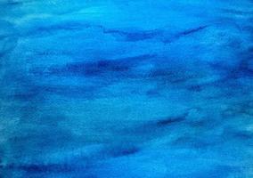 Fondo de textura de acuarela azul brillante. foto