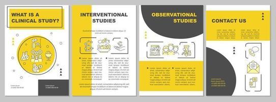 Clinical study description brochure template vector