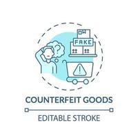 Counterfeit goods concept icon vector