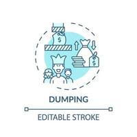 Dumping concept icon vector