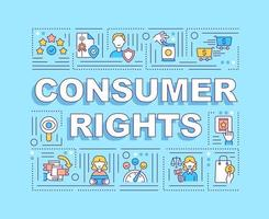 Consumer rights word concepts banner vector