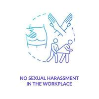 No sexual harassment in workplace blue gradient concept icon vector