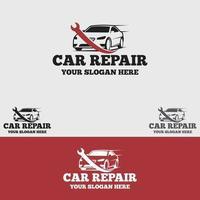 Conjunto de plantillas de diseño de vector de logotipo de reparación de automóviles