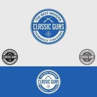 conjunto de plantillas de diseño de logotipo de armas de fuego vector