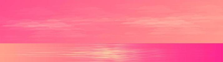 Panorama Beautiful Lover Sea landscape background,sunshine and horizontal concept design. vector