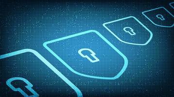 tecnología digital escudo seguridad, protección y concepto de conexión diseño de fondo. vector