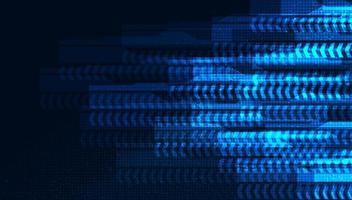 línea de velocidad de flecha digital sobre fondo de tecnología microchip vector