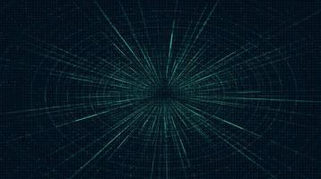 Blue Futuristic Hyperspace speed motion on future Technology background vector