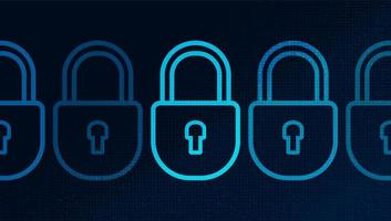 Digital Technology Lock Security, protection and connection Concept vector