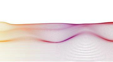 Colorful Dynamic line on White background, Digital Sound Wave concept design vector