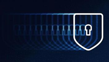 Speed Digital Technology Shield Security, protection and connection Concept background vector