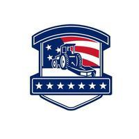 bush hogging services USA flag badge vector