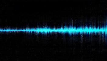 Digital Sound Wave Low and Hight richter scale with Circle Vibration on Light Blue Background vector