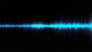 Onda de sonido digital Escala de Richter baja y alta con vibración circular sobre fondo azul claro vector