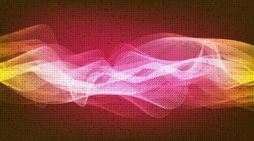 Onda de sonido digital de luz y concepto de onda de terremoto, diseño para estudio de música y ciencia vector