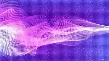 Onda de sonido digital violeta claro y concepto de onda de terremoto, diseño para estudio de música y ciencia vector