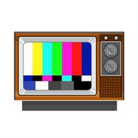 patrón de señal de tarjeta de prueba de tv de televisor retro vector