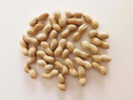 Pile of whole peanuts