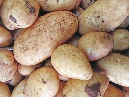 primer plano, de, pila, de, patatas foto