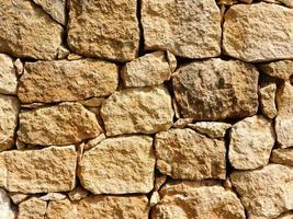 Close-up of stone or rock wall for background or texture