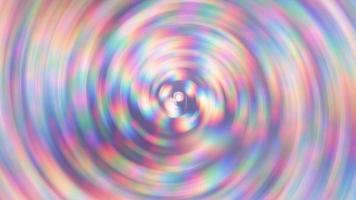 fundo abstrato bonito com círculos de arco-íris em movimento