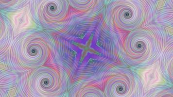 Abstract Pink Kaleidoscope Background with Rainbow Pattern. video
