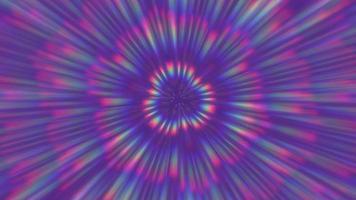 abstrakter lila Hintergrund mit Regenbogenstrahlen.
