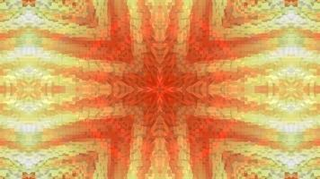 cruz de caleidoscópio de fundo amarelo-laranja texturizado.