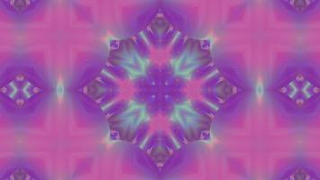 Abstract Neon Pink Iridescent Kaleidoscope Background