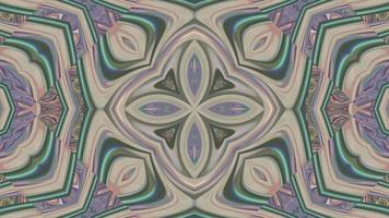 Abstract Chrome Kaleidoscope Background.