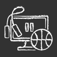 Taking exercise break chalk white icon on black background vector