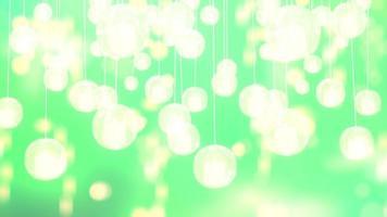 fundo de néon verde abstrato com luzes amarelas