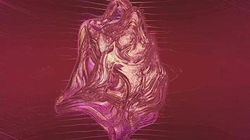 fundo cromado em movimento texturizado abstrato com forma