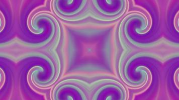 Abstract Pink Kaleidoscope Background with Rainbow Pattern.
