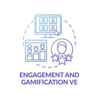 Engagement and gamification VE concept icon vector