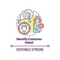 Identify customer intent concept icon vector