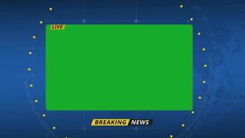 Breaking News Info Plate Green Screen