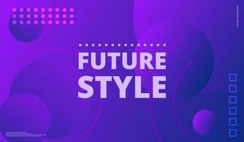 Geometric abstract purple violet shapes gradient vector background