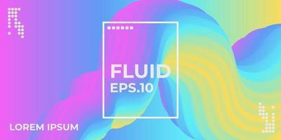 forma fluida. fondo líquido. cubierta abstracta de moda. cartel de diseño futurista. ilustración vectorial