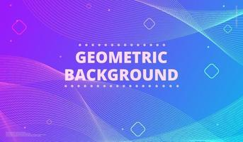 Gradient background with geometric shapes. vector