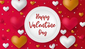 Valentines Day Sale discount banner. Discount Sale Vector. Special offer poster with heart balloons, price tag, festive background. vector