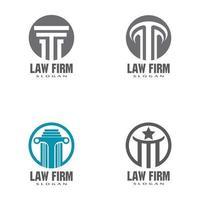 Justice law Logo Template vector illustration design set