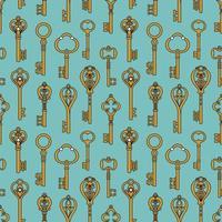 Fondo vintage de menta con llaves antiguas vector