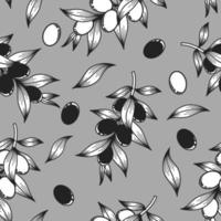 Grey background with olive branches vector
