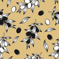 Beige background with olive branches vector